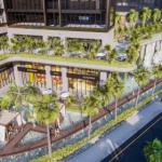 Phối cảnh mảng xanh đa tầng tại dự án SunShine City