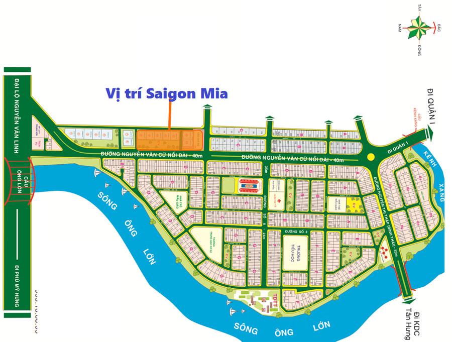 Vị trí Sài Gòn Mia Trung Sơn