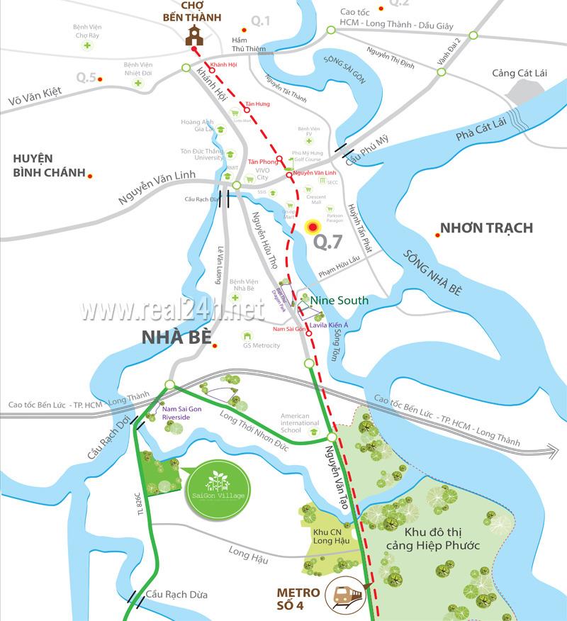 Bản đồ vị trí dự án saigon village